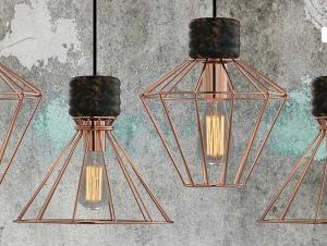 Illuminazione industrial e vintage : idee design 2017