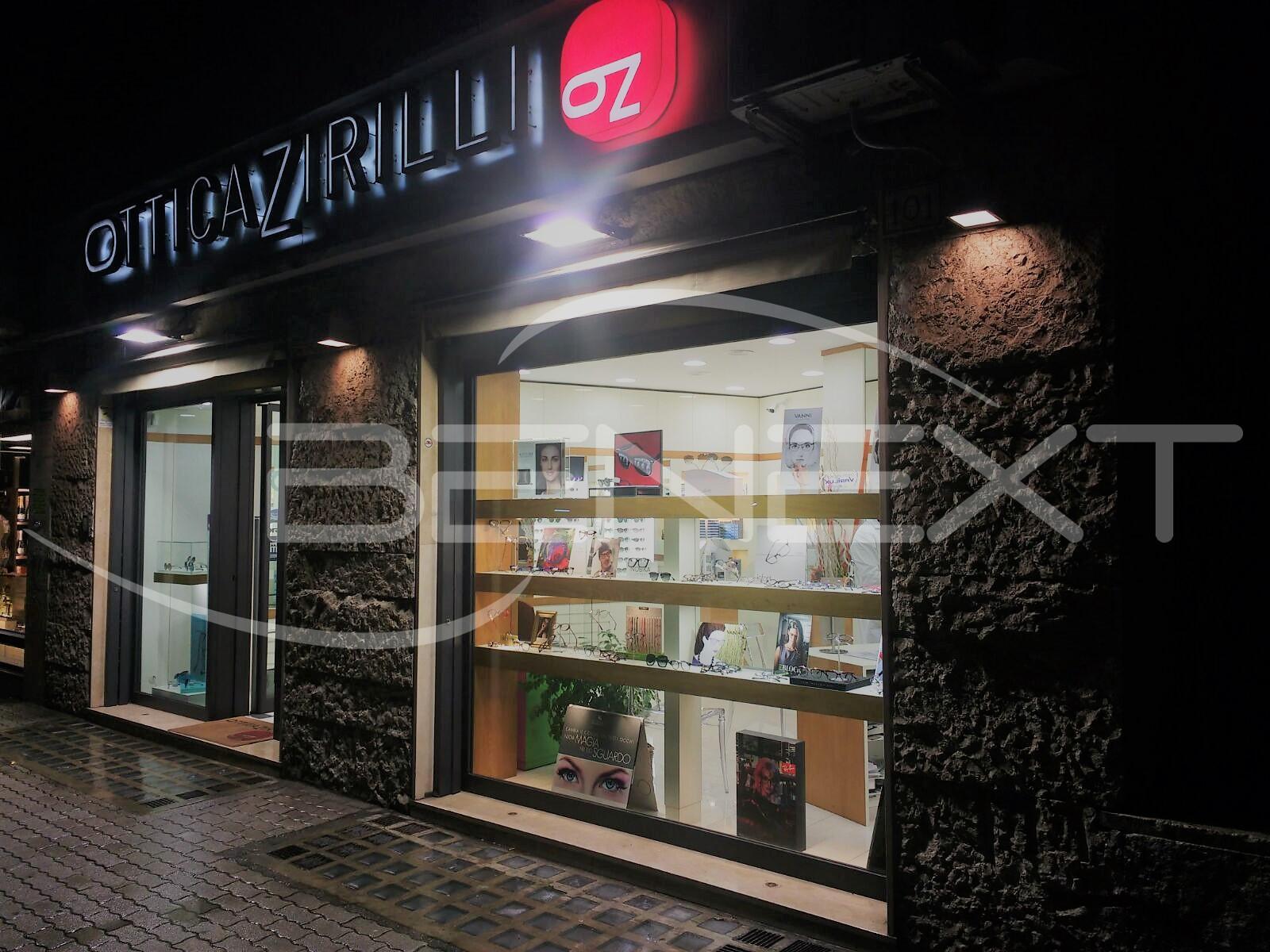 Progetto illuminotecnico dei negozi moncler a cg srl