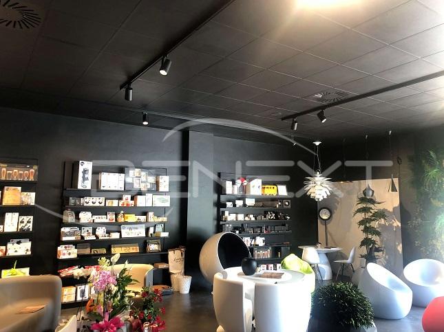 Illuminazione per negozi di arredo casa a siena